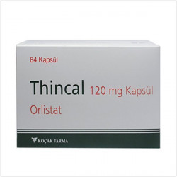 Thincal Orlistat 84 caps 120 mg Kocak Farma EXP