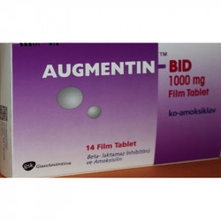Augmentin 1000 mg 14 Tablets Glaxosmithkline